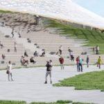 В парке «Зарядье» начали благоустройство пешеходного пространства